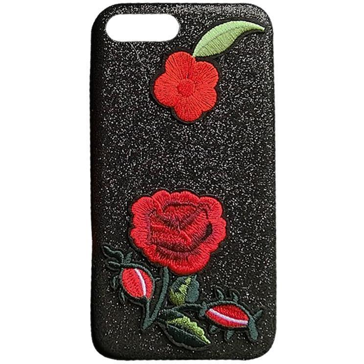 Embroidery Flower Phone Case