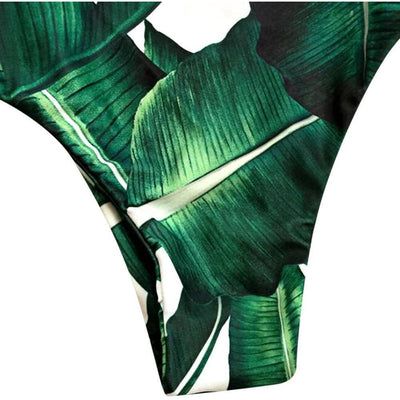 BASSO Exotic Leaf Swimsuit