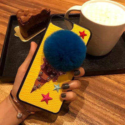 BASSO Fuzzy Ice Cream Phone Case