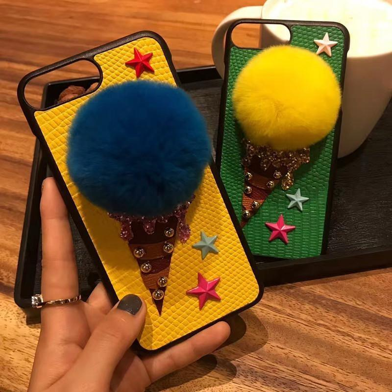 Fuzzy Ice Cream Phone Case