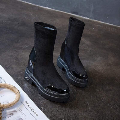 Woman's Boots Noir Platform Boots at $69.00