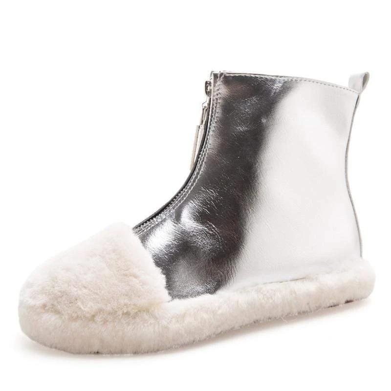 Woman's Boots Puffy Zipper Boots at $56.99