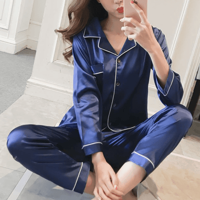 BASSO Satin Long PJ Set