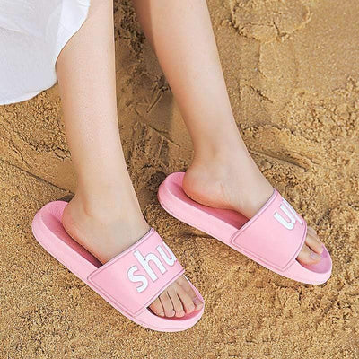 "Woman's Slippers ""Shut Up"" Slippers at $37.00"