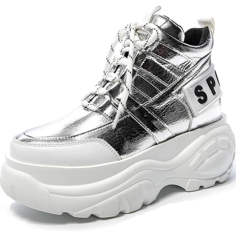 Woman's Sneakers Silver Top Sneakers at $75.00