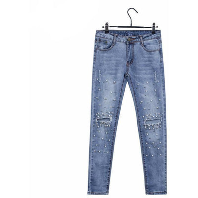 Woman's Pants Skinny Pearl Jeans at $45.99
