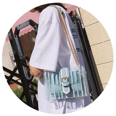 BASSO Stripe Clear Bag