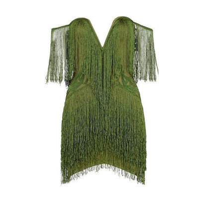 Woman's LUXURY Dress Tassel Party Dress at $73.00