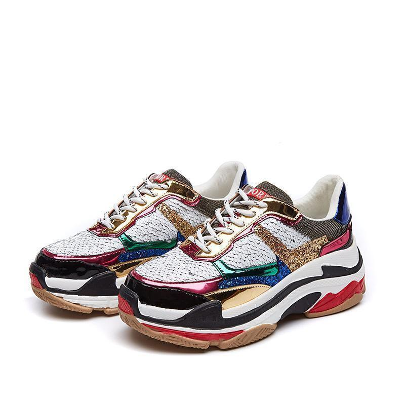 Woman's Sneakers Tyco Sequin Sneakers at $69.99
