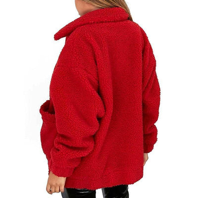 Woman's Faux Fur Ulma Trendy Coat at $49.00
