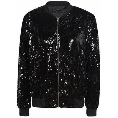 Woman's Bomber Jacket Vero Sequined Bomber Jacket at $49.95