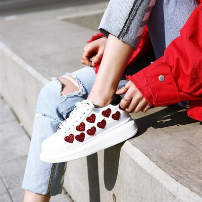Woman's Sneakers Walking Heart Sneakers at $99.00