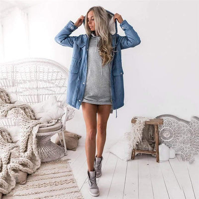 Woman's Jackets Warm Denim Jacket at $45.00