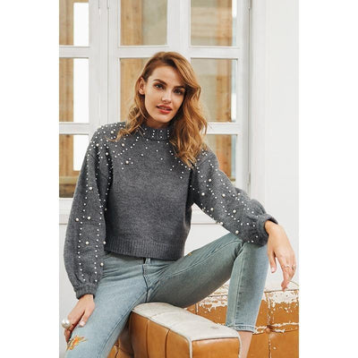 Woman's Blouse Warm Pearl Sweater at $69.00