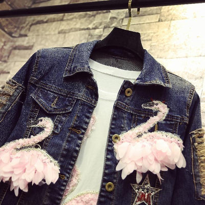 BASSO White Swan Denim Jacket