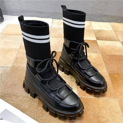 Woman's Boots Iberia Stripe Boots at $85.00