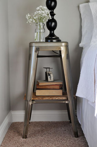 industrial stool hack bedside table bromance trend interiors vavoom