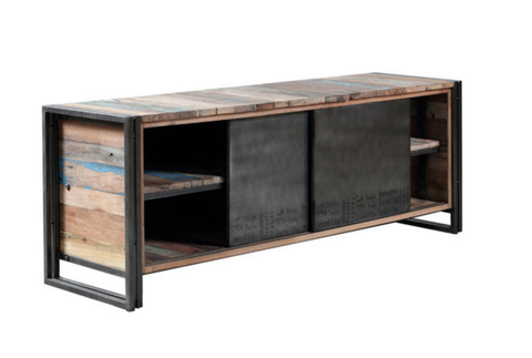 edito tv sideboard recycled boatwood industrial upcycled timber trend