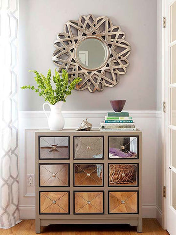 mirrored furniture cabinet interiors trend easy to clean modern