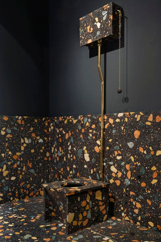 Max lamb terrazzo interior design trend vavoom inspiration bathroom design toilet