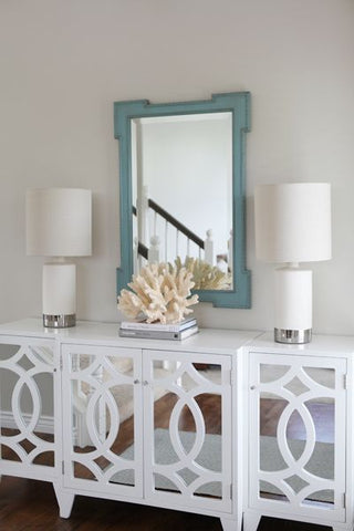 interiors trend mirrored furniture hamptons lattice console vavoom coastal