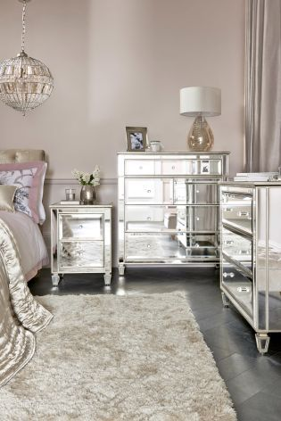 mirrored furniture trend bedroom interiors vavoom trend boudoir parisian