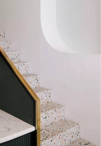terrazzo stairs trend architecture interiors vavoom inspiration materials trend 2018