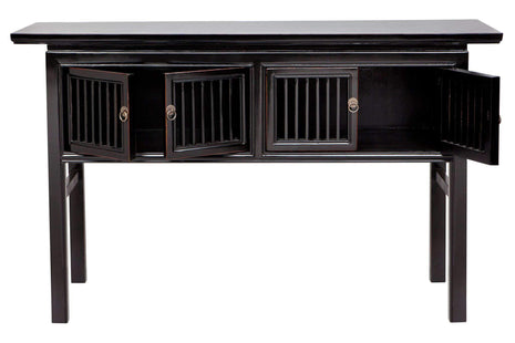 Calais Black Console Table--VAVOOM