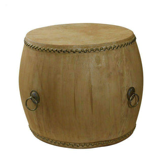 Accent Tables Empire Drum Side Table Natural