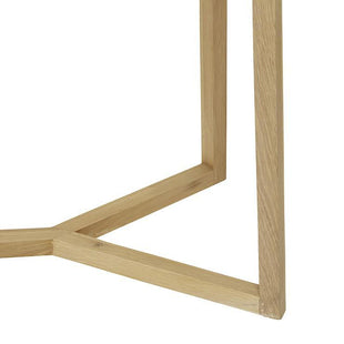 Accent Tables Geo Console Table Natural Oak