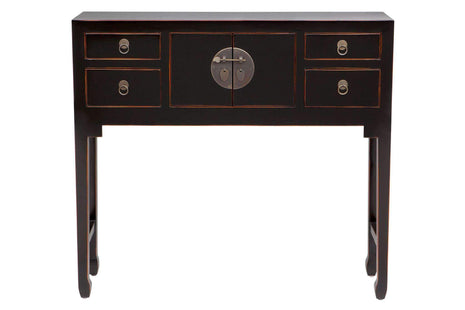 Accent Tables Hand Crafted Black Side Table