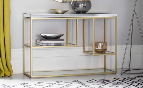Accent Tables Levante Console Table Champagne