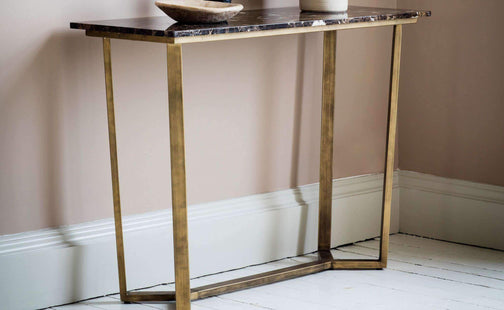 Accent Tables Maximillian Marble Top Console Table