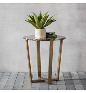 Accent Tables Maximillian Round Side Table Marble