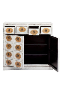 Accent Tables Saigon White And Gold Console Table