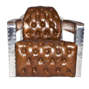 Aviator Aluminium + Leather Armchair--VAVOOM