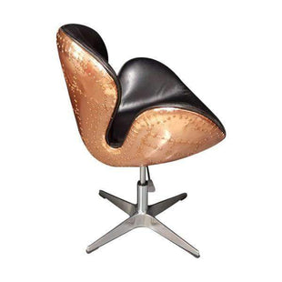 Pleasing Aviator Leather Real Copper Armchair Beatyapartments Chair Design Images Beatyapartmentscom