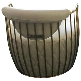 Bubble White Leather and Polished Brass Armchair--VAVOOM