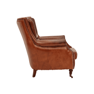 Armchairs Positano Aged Leather Armchair