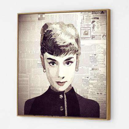 Artwork Icon Audrey Collage Wall Art