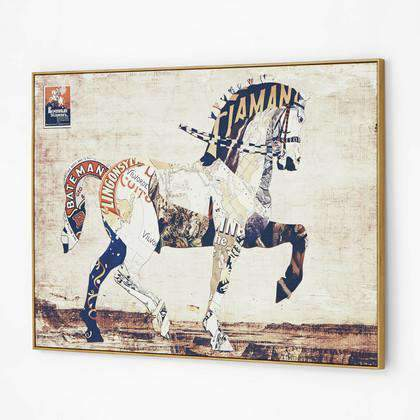 Artwork Regal Horse Collage Wall Art