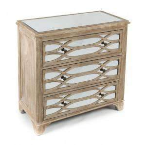Cabinets Lattice Mirror Timber Cabinet - Natural