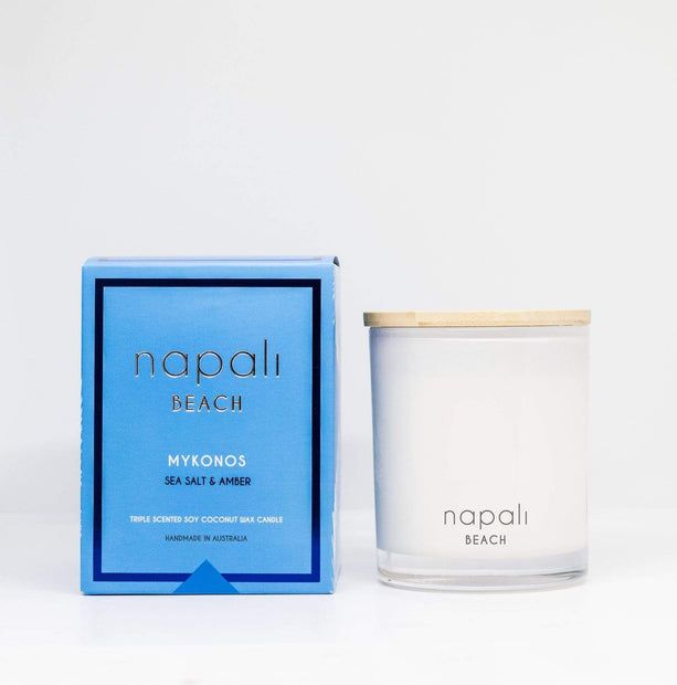 Candles Mykonos Deluxe Sea Salt & Amber Candle