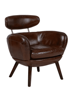 Chairs Stylist Chair In Cigar Aged Leather