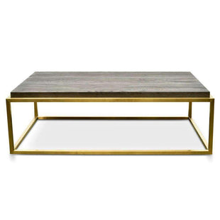 Black And Gold Coffee Table--VAVOOM