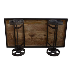 Coffee Tables Industrial Coffee Table On Wheels