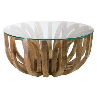 Coffee Tables Lotus Glass Coffee Table - Round Large