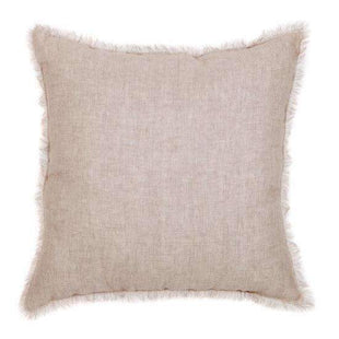 Cushions European Beige Linen Cushion - Reversible