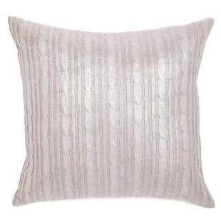 Cushions Silver Cable Knit Cushion - Glamour