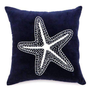 Cushions Star Fish Navy Velvet Cushion